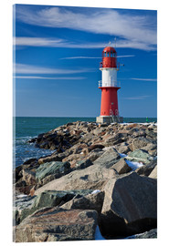 Acrylglas print  Lighthouse on the Baltic Sea coast in Warnemuende (Germany) - Rico Ködder