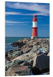 PVC print  Lighthouse on the Baltic Sea coast in Warnemuende (Germany) - Rico Ködder