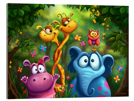 Acrylglas print  Jungle animals - Tooshtoosh