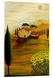Acrylglas print  Sunflowers in Tuscany - Christine Huwer