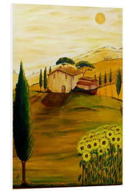 PVC print  Sunflowers in Tuscany - Christine Huwer
