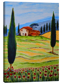 Canvas print  Flowering Poppies of Tuscany 4 - Christine Huwer
