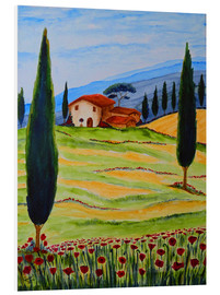 PVC print  Flowering Poppies of Tuscany 4 - Christine Huwer