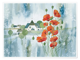 Premium poster  Poppy flower - Franz Heigl