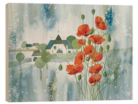 Hout print  Poppy flower - Franz Heigl