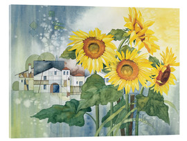 Acrylglas print  Rays of sun flowers - Franz Heigl