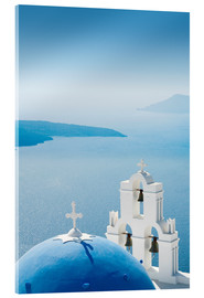 Acrylglas print  Church Santorini Greece - Mayday74