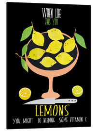 Acrylglas print  When life gives you lemons - Elisandra Sevenstar