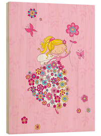 Hout print  Flower Princess - Fluffy Feelings