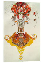 Acrylglas print  Ballet Costume for 'The Firebird' - Leon Nikolajewitsch Bakst