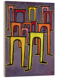 Hout print  Revolution of the Viaduct - Paul Klee