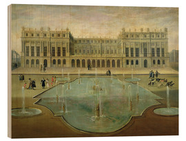 Hout print  Chateau de Versailles from the Garden Side - French School