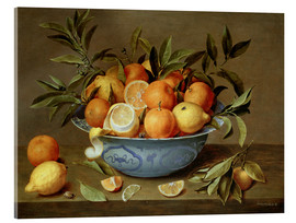 Acrylglas print  Still Life with Oranges and Lemons - Jacob van Hulsdonck