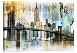 Canvas print  New York Skyline I - Städtecollagen