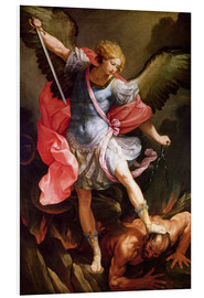 PVC print  The archangel Michael defeating Satan - Guido Reni