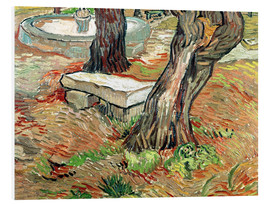 PVC print  The Bench at Saint-Remy - Vincent van Gogh