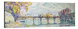 Aluminium print  The Pont des Arts - Paul Signac