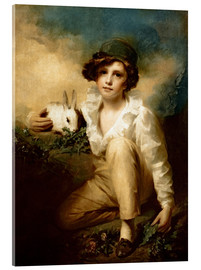 Acrylglas print  Boy and Rabbit - Henry Raeburn