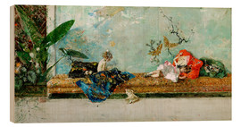 Hout print  The Painter's Children in the Japanese Salon - Mariano Fortuny y Marsal
