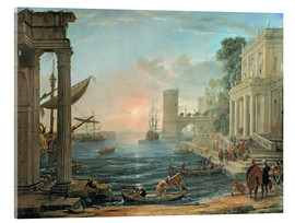 Acrylglas print  Seaport with the Embarkation of the Queen of Sheba - Claude Lorrain