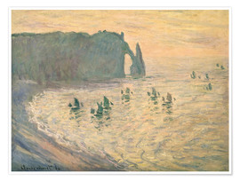 Premium poster Cliffs at Etretat