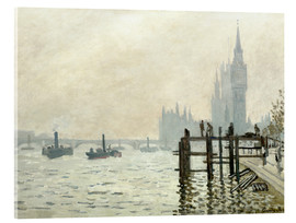 Acrylglas print  The Thames below Westminster - Claude Monet
