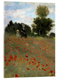 Acrylglas print  Poppy field at Argenteuil - Claude Monet
