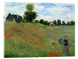 Acrylglas print  Poppy field at Argenteuil, detail - Claude Monet