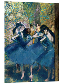 Acrylglas print  The Blue Dancers - Edgar Degas