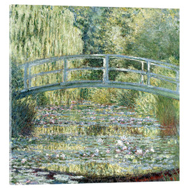 Acrylglas print  water lily pond symphony in green - Claude Monet