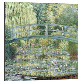 Aluminium print  De waterlelievijver, harmonie in groen - Claude Monet