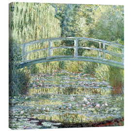 Canvas print  De waterlelievijver, harmonie in groen - Claude Monet