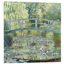 PVC print  De waterlelievijver, harmonie in groen - Claude Monet