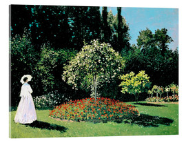 Acrylglas print  Woman in a Garden - Claude Monet