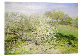 Acrylglas print  Flowering apple trees in spring - Claude Monet