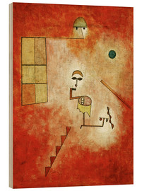 Hout print  Magician - Paul Klee