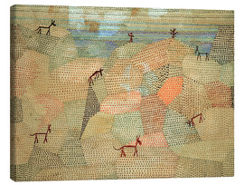 Canvas print  Landscape with Donkeys - Paul Klee
