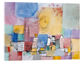 Acrylglas print  German city - Paul Klee