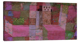 Canvas print  Garden house - Paul Klee
