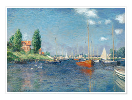 Premium poster  Red boats at Argenteuil - Claude Monet