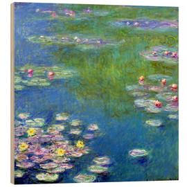Hout print  Waterlelies - Claude Monet