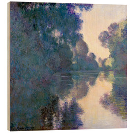 Hout print  Morning on the Seine - Claude Monet