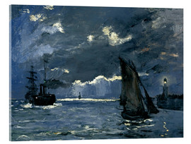 Acrylglas print  Ships in Moonshine - Claude Monet