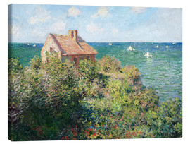 Canvas print  Fisherman's Cottage on the Cliffs at Varengeville - Claude Monet