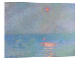 Acrylglas print  Waterloo Bridge - Claude Monet