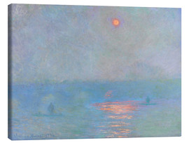 Canvas print  Waterloo Bridge - Claude Monet