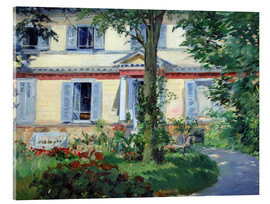 Acrylglas print  Country house in Rueil - Edouard Manet