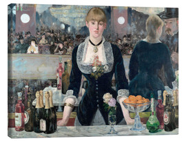 Canvas print  Een bar in de Folies-Bergère - Edouard Manet