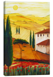 Canvas print  Tuscan idyll 3 (brighter) - Christine Huwer