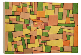 Hout print  Country House of Thomas R. - Paul Klee